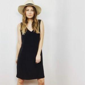 Cynthia Rowley Silk Black V-Neck Dress